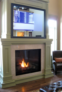 London Home Builders Millstone Homes - 52Inch Montigo Fireplace Custom Mantle
