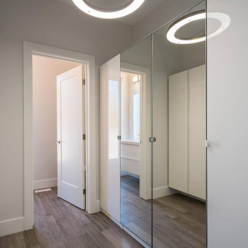 London Home Builders Millstone Homes - Closet Mirror Area