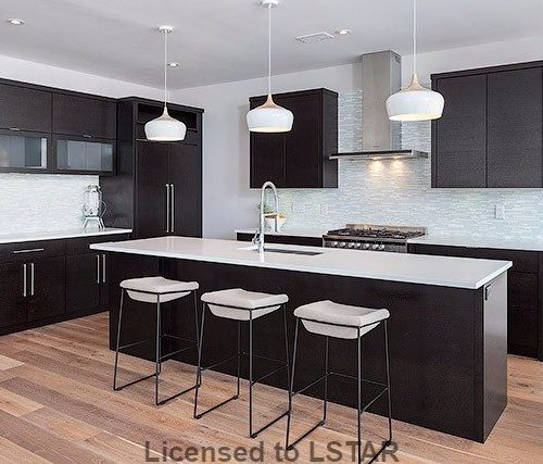 London Home Builders Millstone Homes - Dark Cabinets White Backsplash