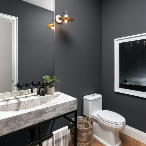 London Home Builders Millstone Homes - Carnegie Powder Room Final